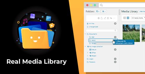 WordPress Real Media Library v4.7.5 – WP媒体文件夹/文件管理器