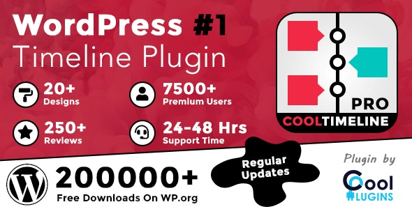 Cool Timeline Pro v3.4.2 – WordPress时间轴插件