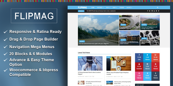 Flip Mag v1.1.0 – Responsive WordPress News Theme