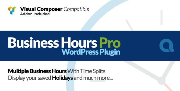 Business Hours Pro WordPress Plugin v3.6.3