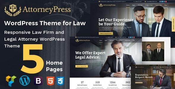 Attorney Press v2.1.2 – 律师WordPress主题