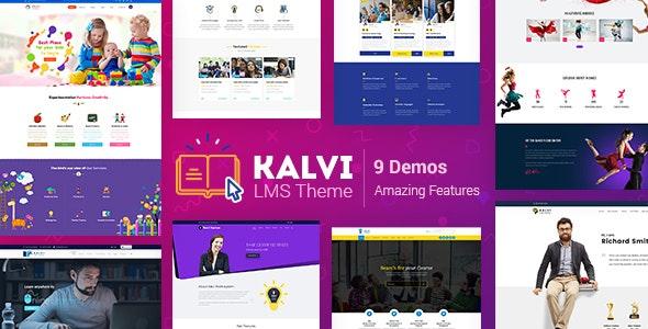 Kalvi v2.5 – LMS教育WordPress主题