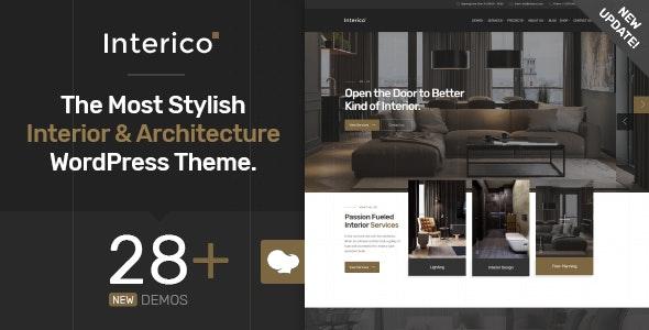 Interico v1.1.3 – 室内设计/建筑WordPress主题