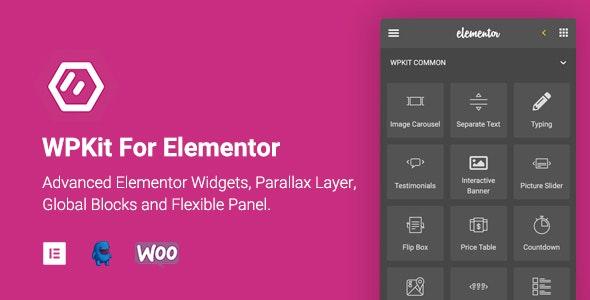 WPKit For Elementor v1.0.8 – 高级Elementor小部件集合/视差层