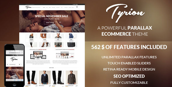 Tyrion v1.8.0 – Flexible Parallax e-Commerce Theme