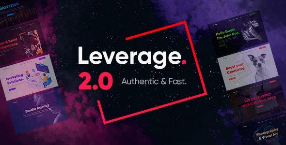 Leverage v2.0.8 – 广告代理/作品组合WordPress主题