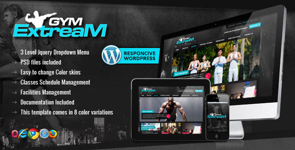 Gym Extream v1.7 – Gym and Fitness WordPress Theme