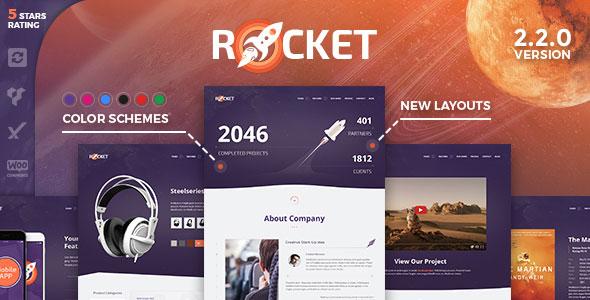 Rocket v2.2.0 – Creative Multipurpose WordPress Theme