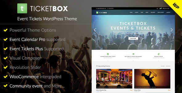 TicketBox v1.1.5 - Event Tickets WordPress Theme