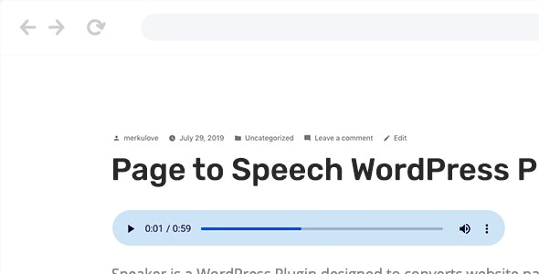 Speaker v3.2.2 – WordPress页面语音插件