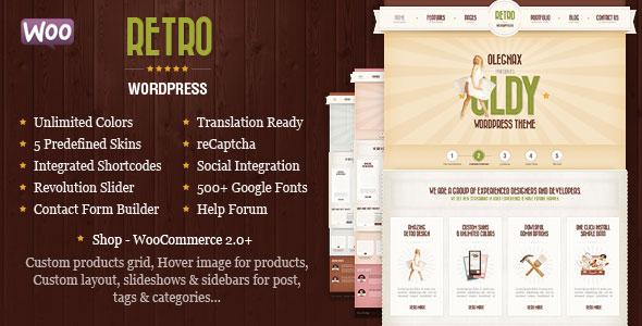 Retro v4.1.0 – Premium Vintage WordPress Theme