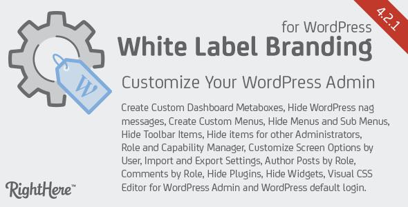 White Label Branding v4.1.5.75687 – WordPress Plugin