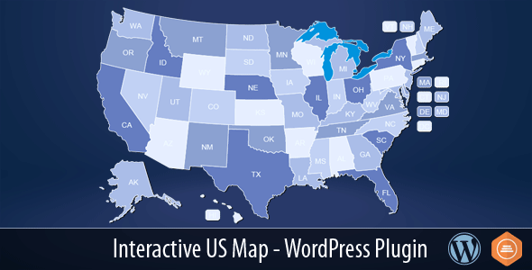 Interactive US Map v2.2.0 – WordPress Plugin