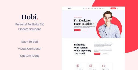 Hobi v1.0.7 - 个人作品集WordPress主题